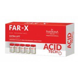 AMPUŁKI Z KONCENTRATEM ACID TECH FAR-X 5x5ml neuropeptyd 3D lift, kwas hialuronowy, kwas fitowy