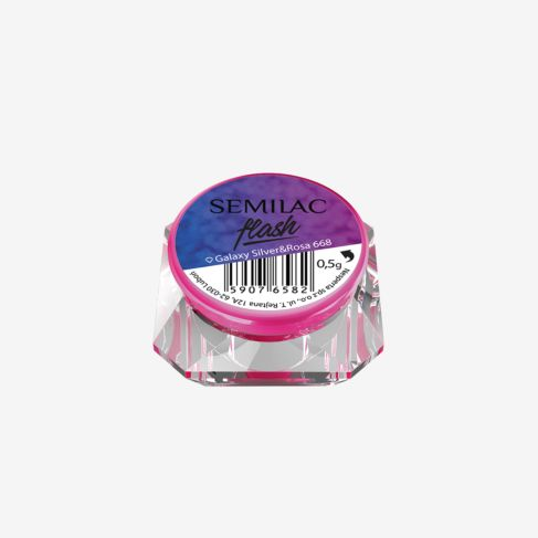 SEMILAC 668 FLASH GALAXY SILVER&ROSA OUTLET