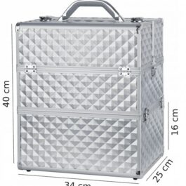 KUFEREK NS06 silver diamond 3Ddwupoziomowy