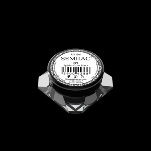 SEMILAC SEMI ART UV GEL 001 BLACK 5ml