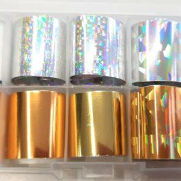 Folia transferowa – MIX srebrny złoty