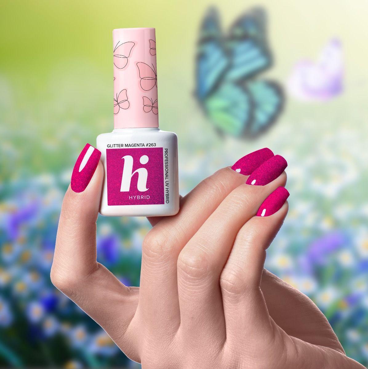 HI HYBRID #263 GLITTER MAGENTA 5ml