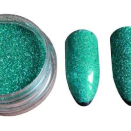 Brokat, Glitter- zielony
