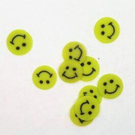 Ozdoby na paznokcie żółty uśmiech