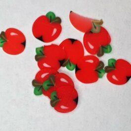 Ozdoby na paznokcie czerwone jabłuszka