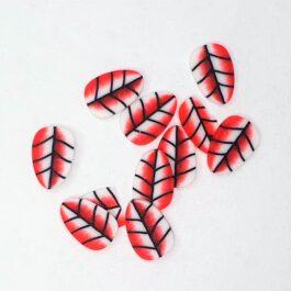 Ozdoby na paznokcie- czerwone liście