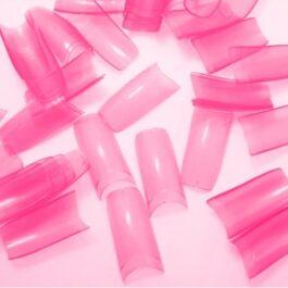SF TIPSY ELASTO różowe transparentne 20szt MIX